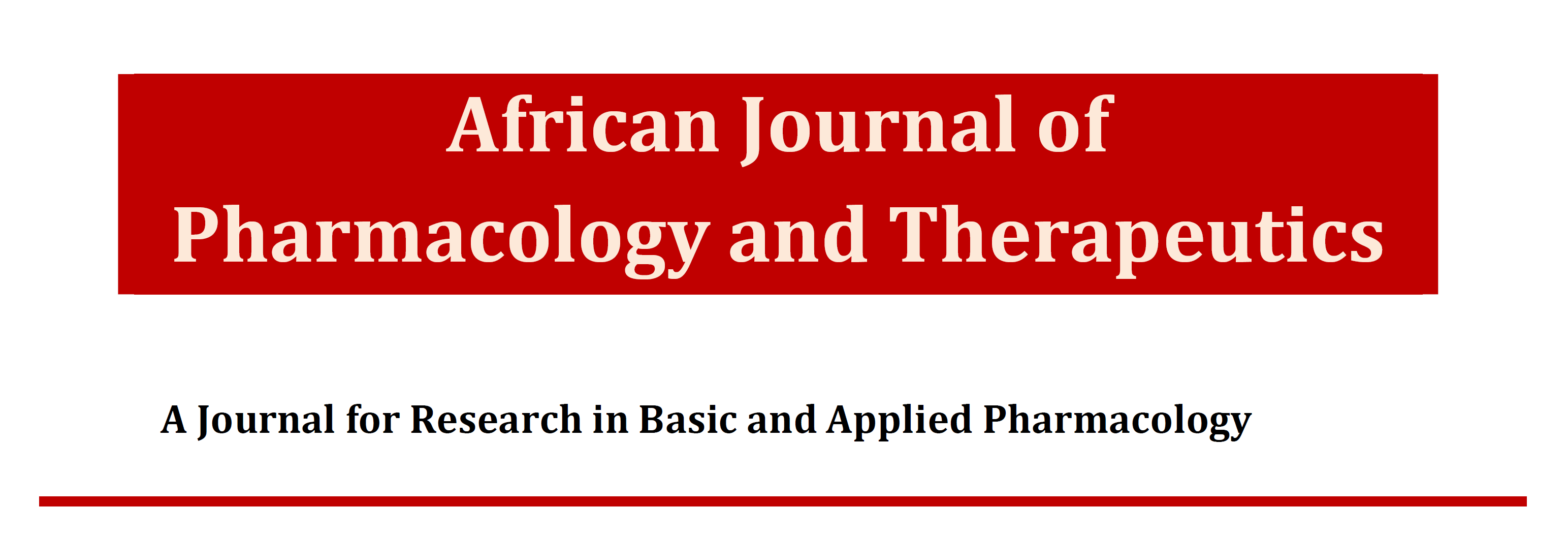 The African Journal of Pharmacology and Therapeutics
